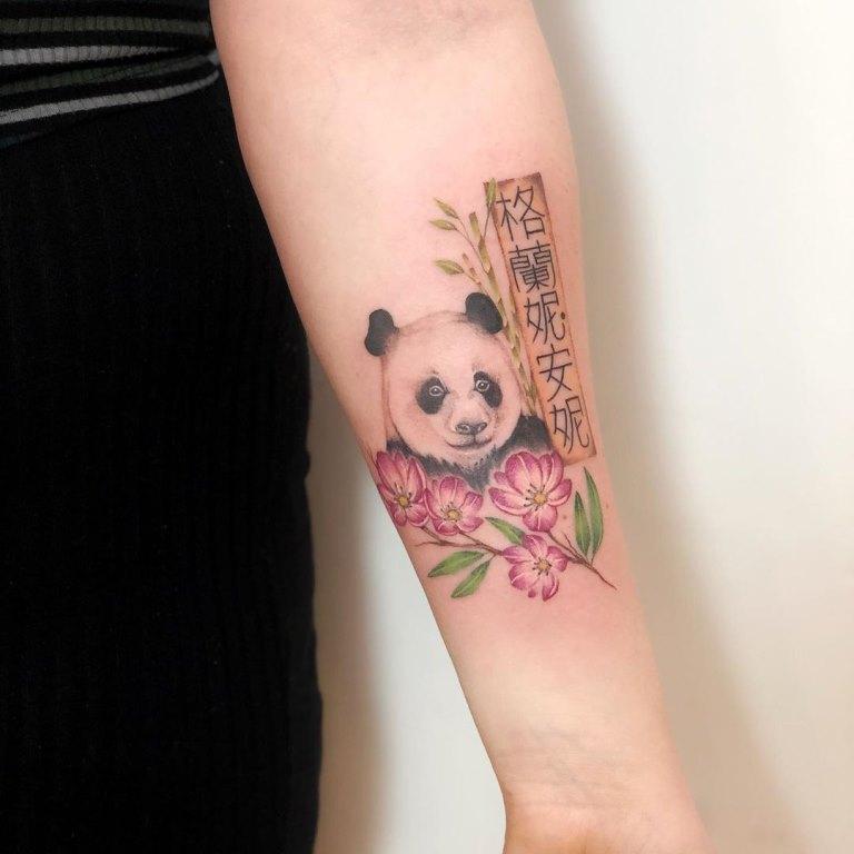 татуировки панда