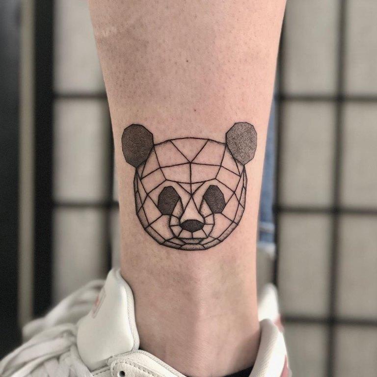 тату панда эскизы