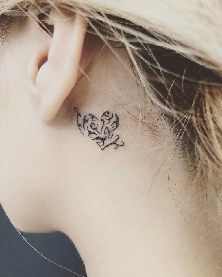 сердце татуировка