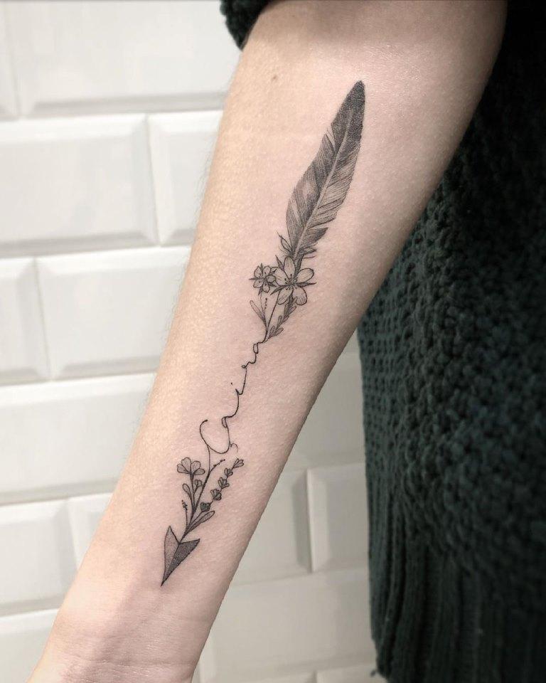 стрелы тату