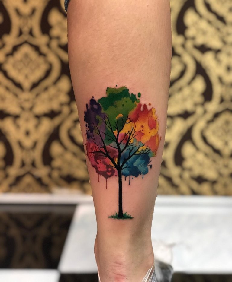 цветные эскизы татуировок