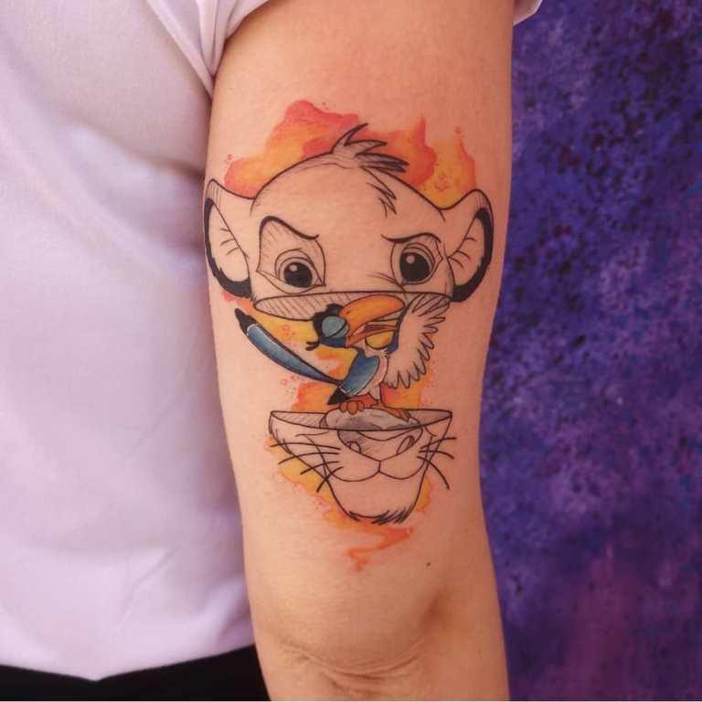 цветные эскизы тату