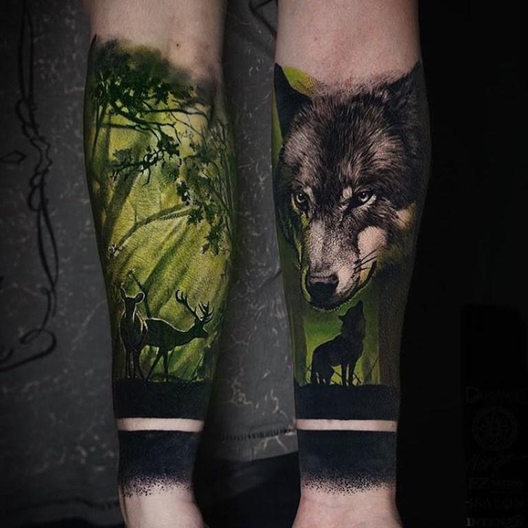 татуировки леса