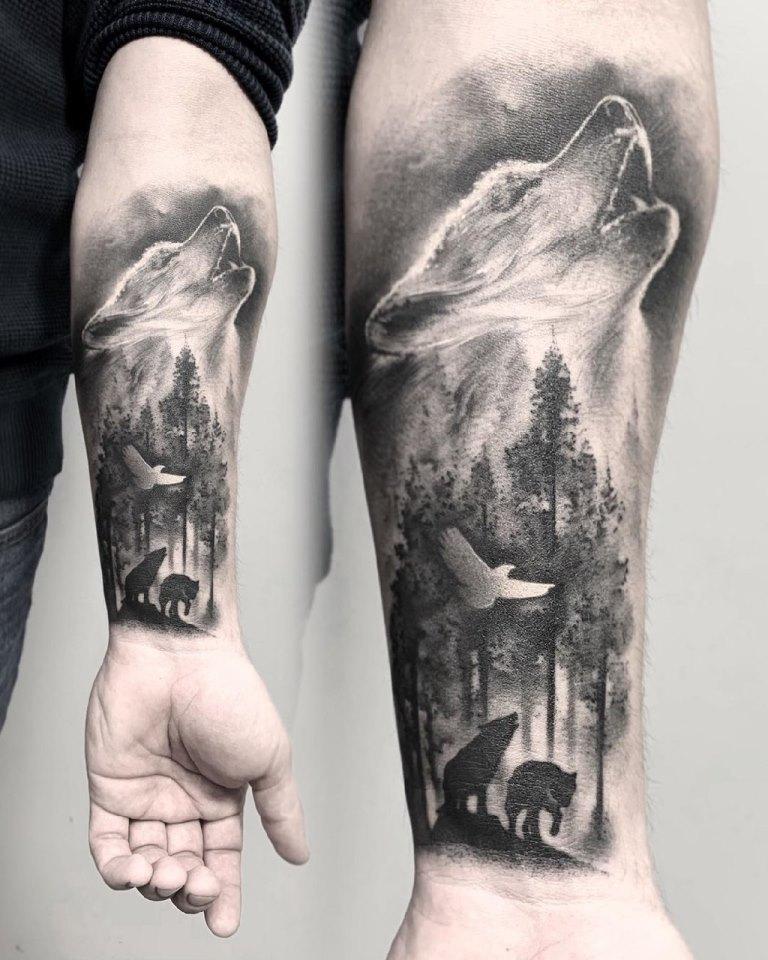 татуировки лес
