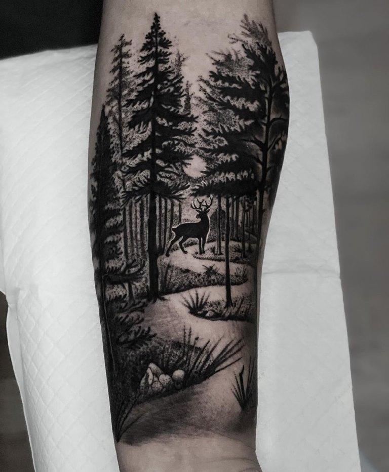 тату лес