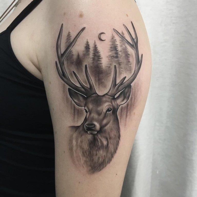 что означает олень тату