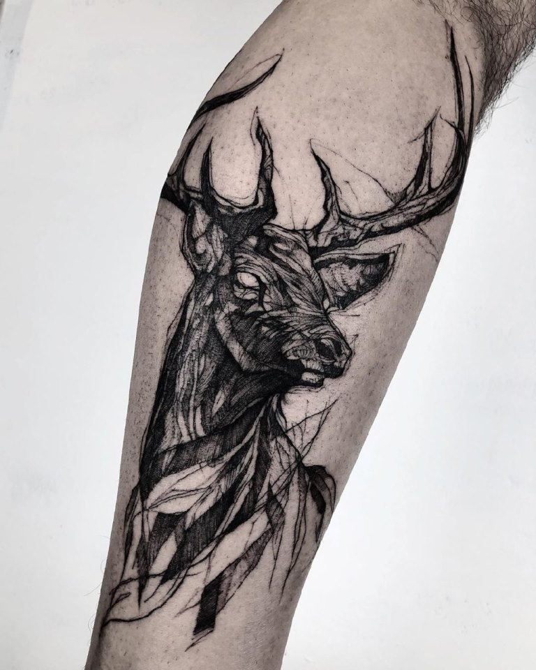 татуировки олень