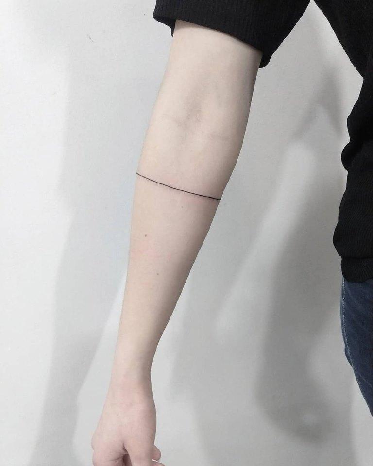 тату полосы на руке значение