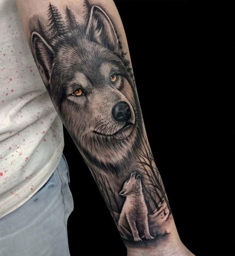 волчица тату