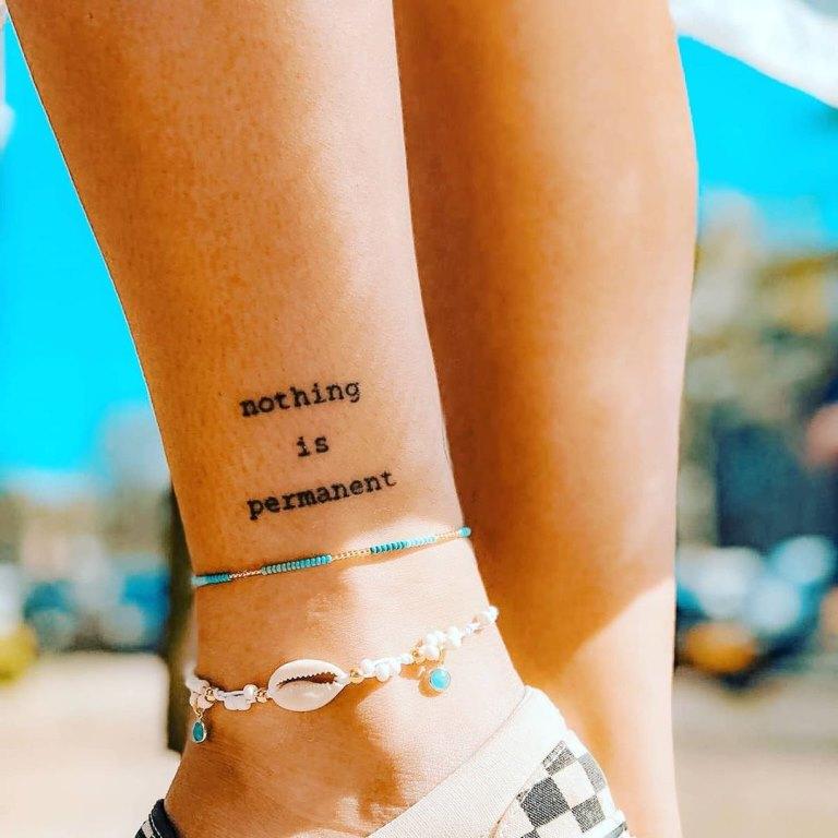 татуировки на лодыжке женские