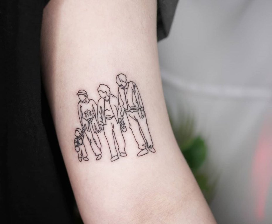 символ семьи тату