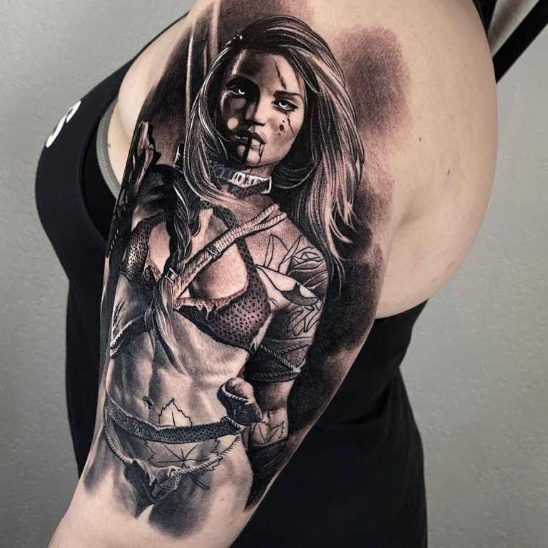 татуировка воин