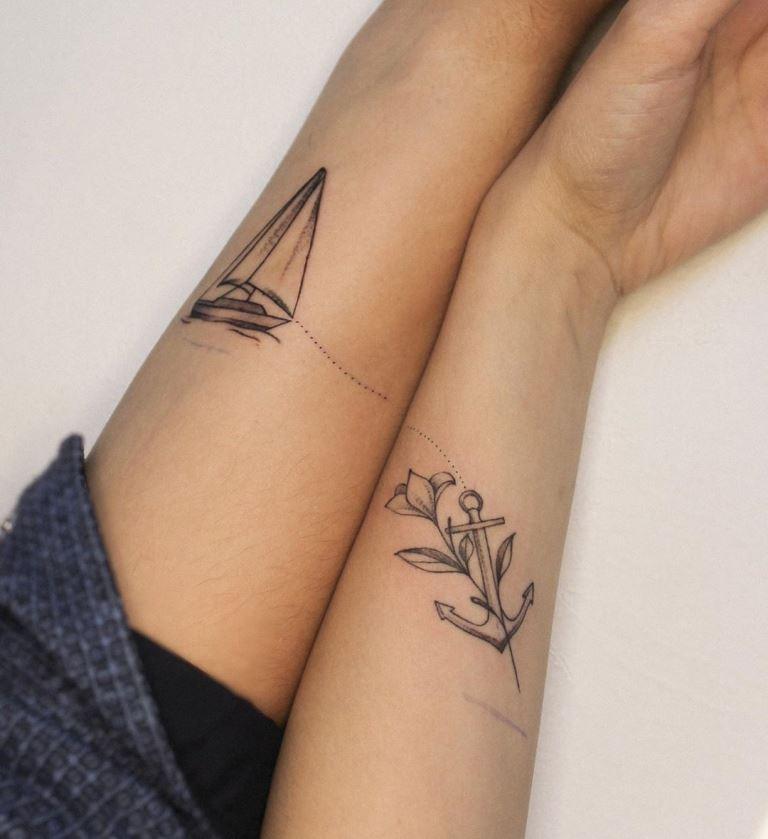 татуировки в стиле минимализм
