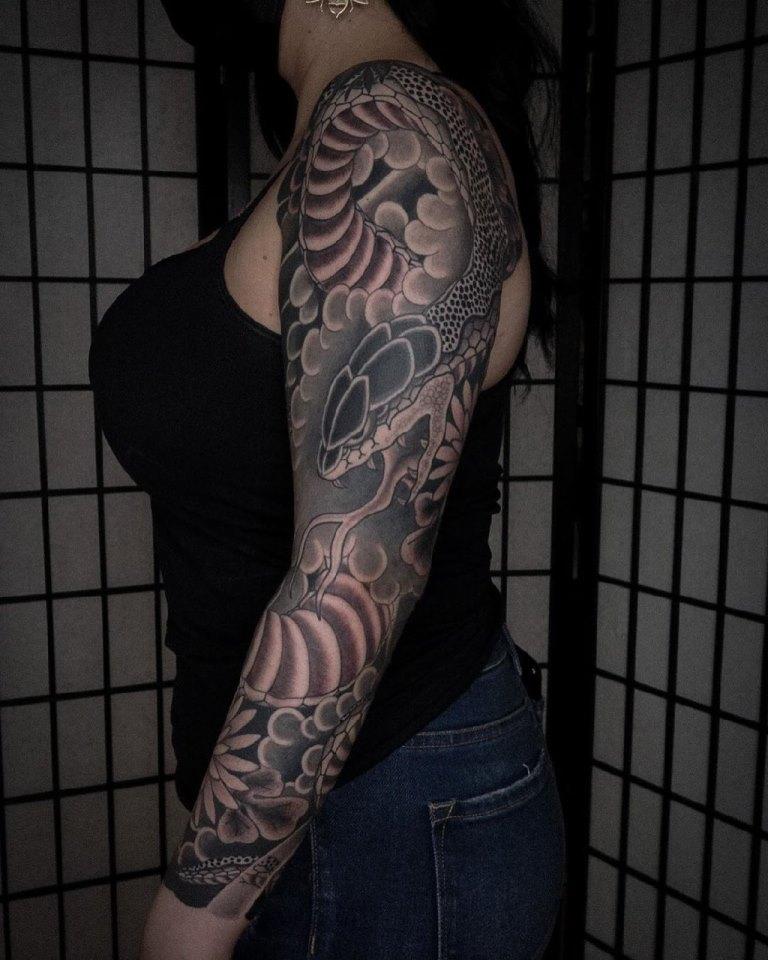 тату в японском стиле на руке