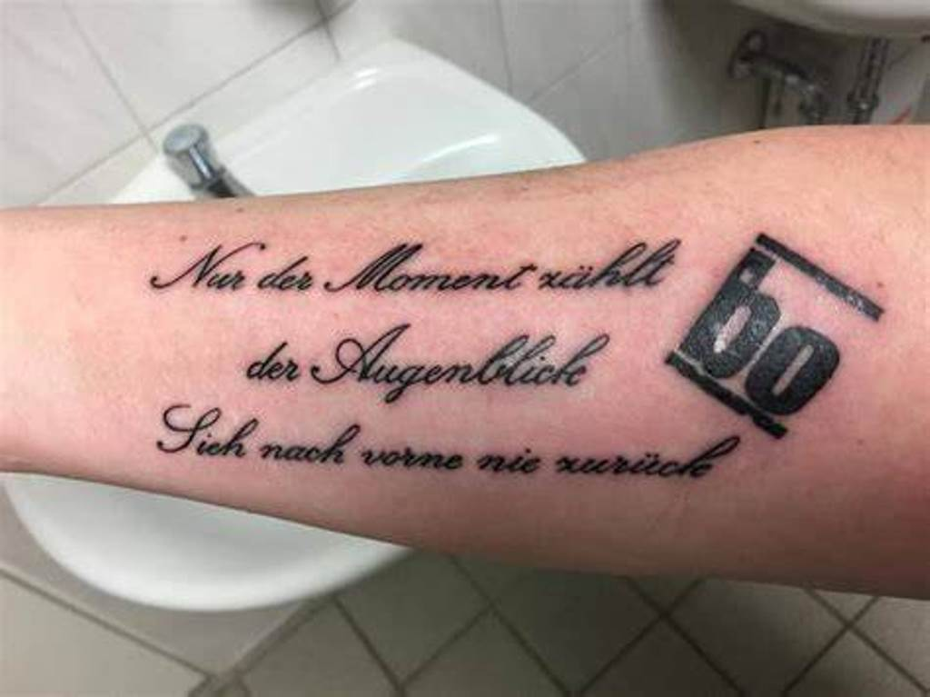 татуировки на немецком языке
