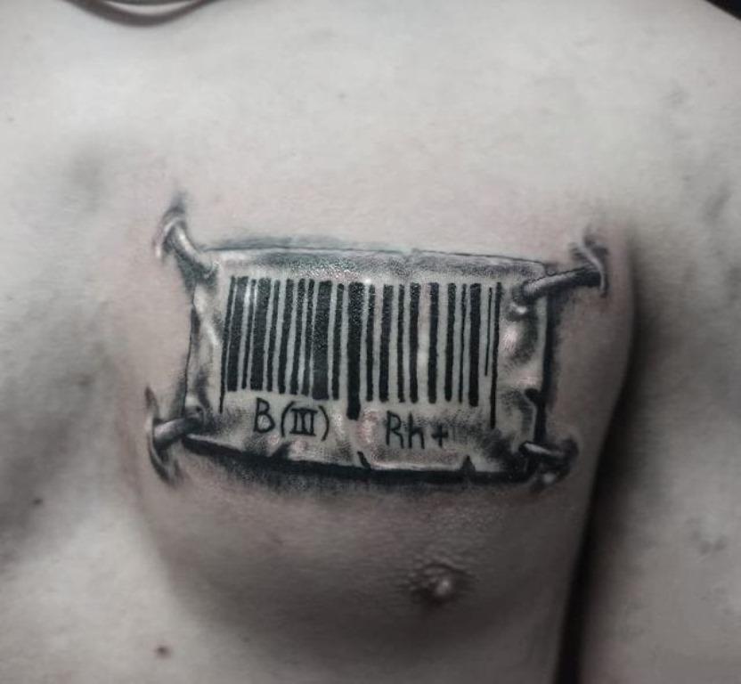 армейская тату группа крови