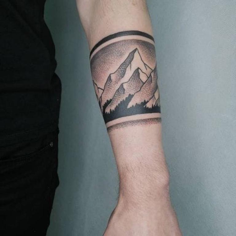маленькие тату горы