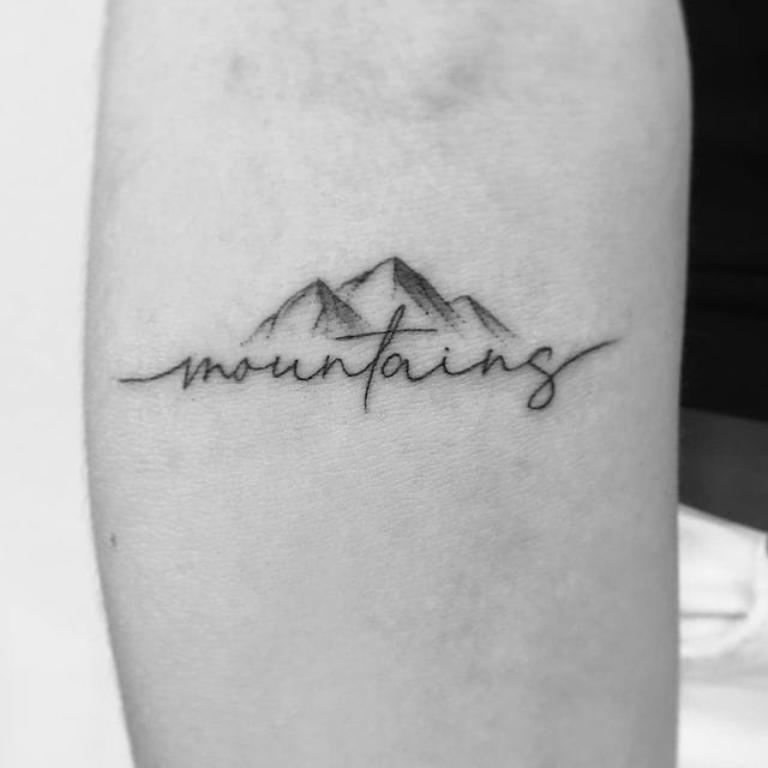 тату горы