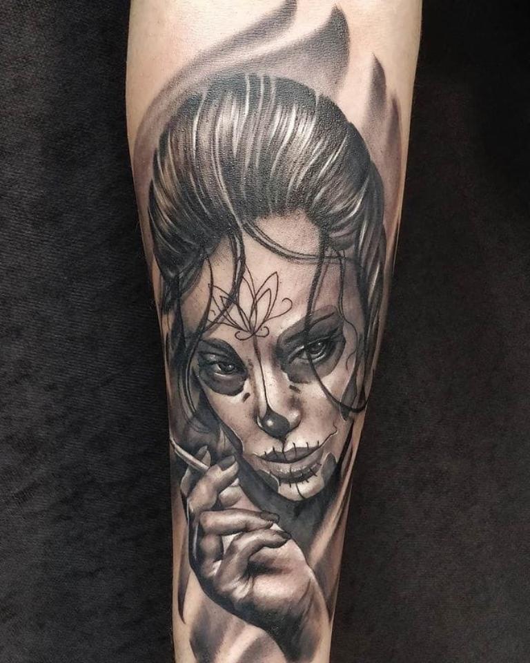 татуировки санта муэрто эскизы