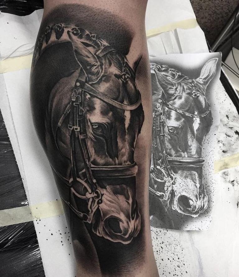 тату лошадь мужские