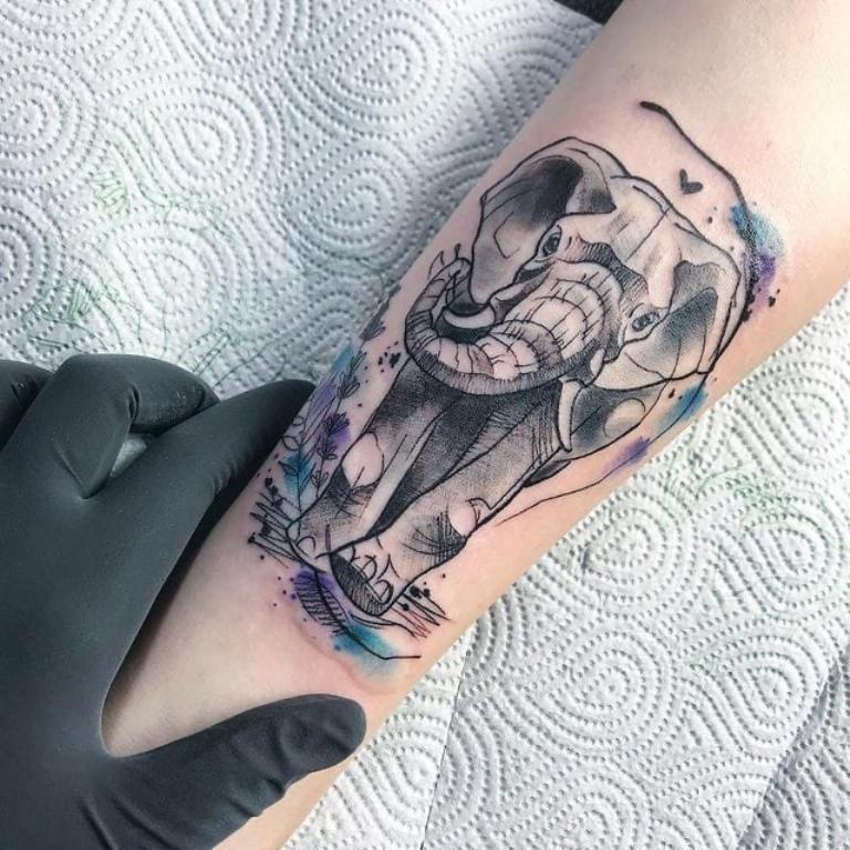 тату слоник