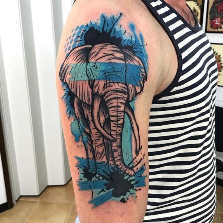 татуировки слонов