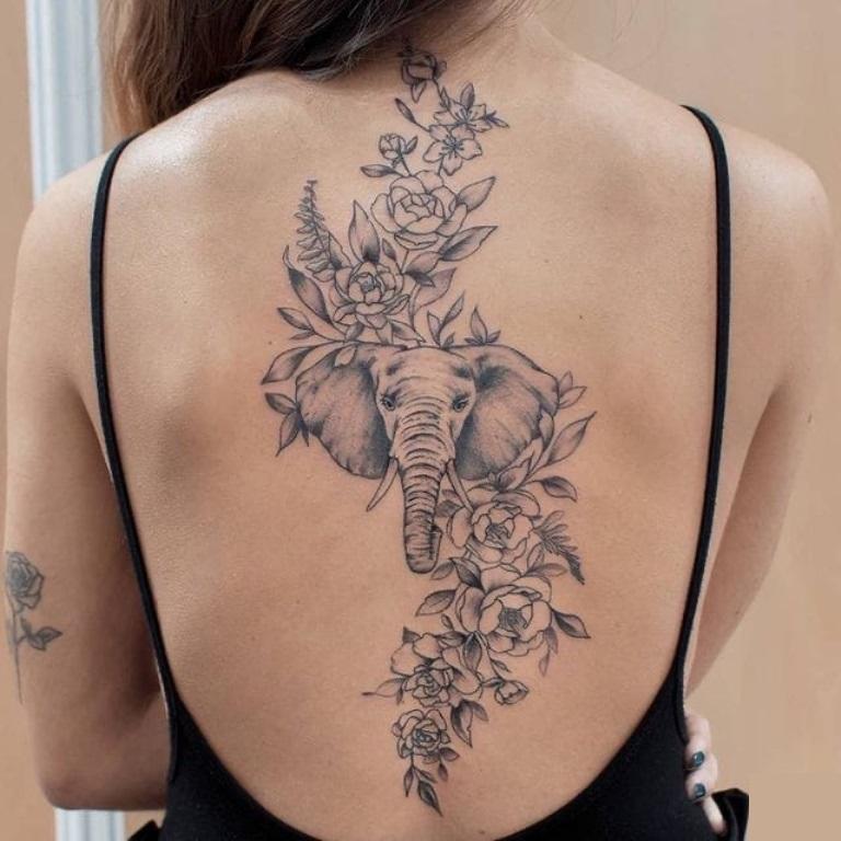 что означает татуировка слон