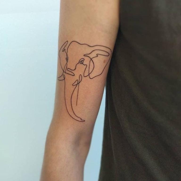 татуировка слоник