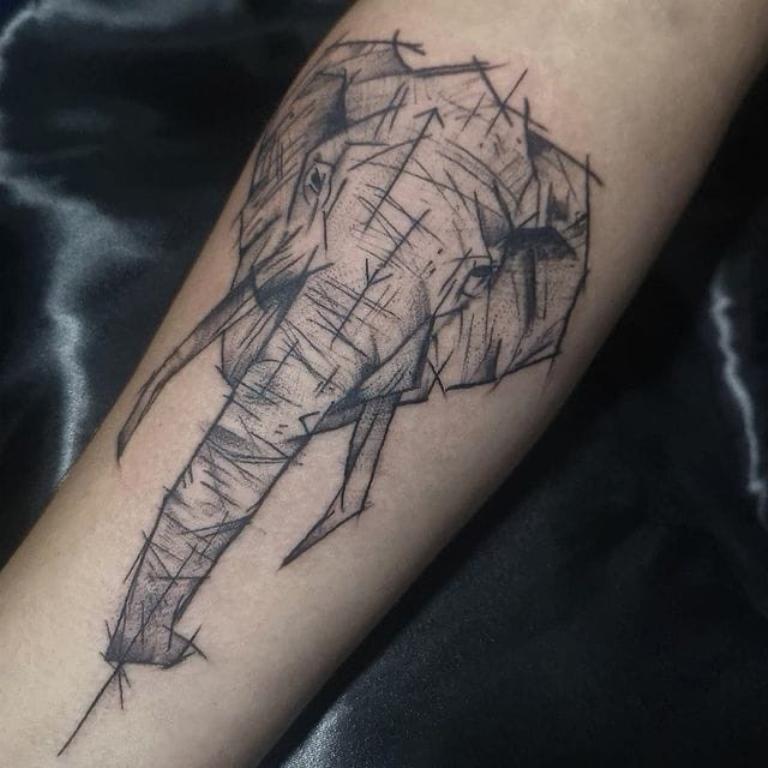 что означает тату слона