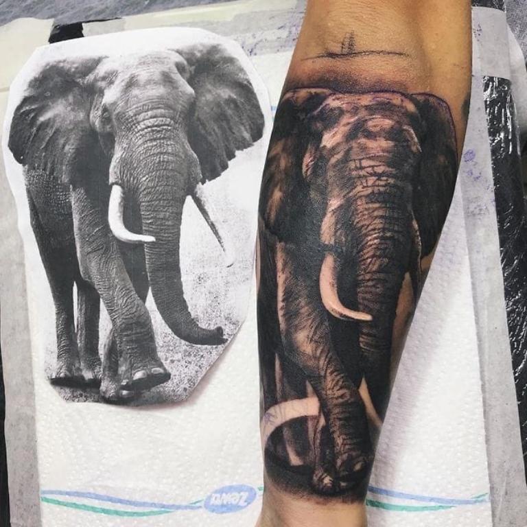 что значит татуировка слон
