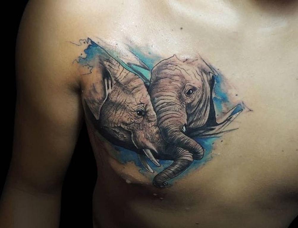 наколка слон