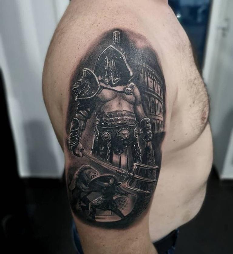 тату со спартанцами